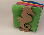 Seahorse Napkin Holder,unfinished wood cutouts,wooden,wood signs,custom,best selling,wood crafts,home decor,diy,dispenser