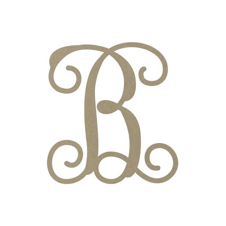 Shape Wood Monogram USA Made events party paintable Cutout best selling Circle B Unfinished MDF craft weddings kids college