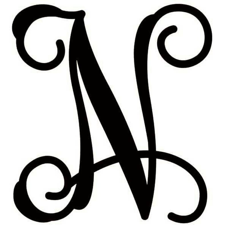 best selling Monogram USA Made MDF Circle N Unfinished college weddings Wood paintable Cutout Shape party kids craft events