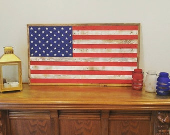 Red White and Blue Pallet American Flag