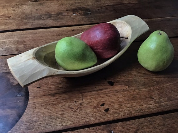 Hand Carved Wooden Bowl Cherry Wood Bowl Wedding Gift Hand Made