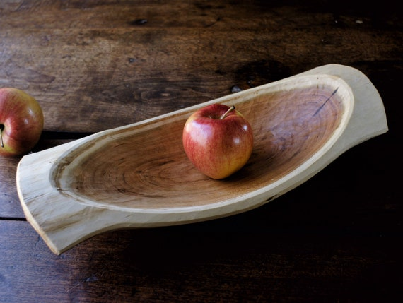 Hand Carved Wooden Bowl Cherry Bowl Unique Gift