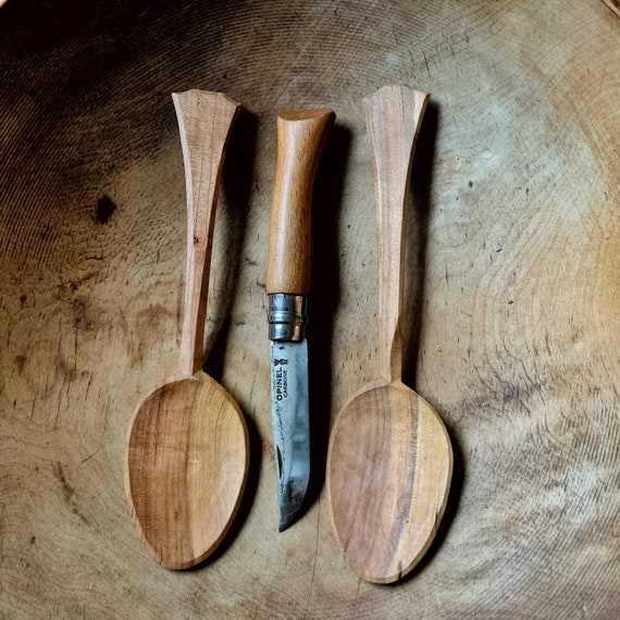 Hand Carved Wooden Eating Spoon Cherry Wood Spoon Unique Gift