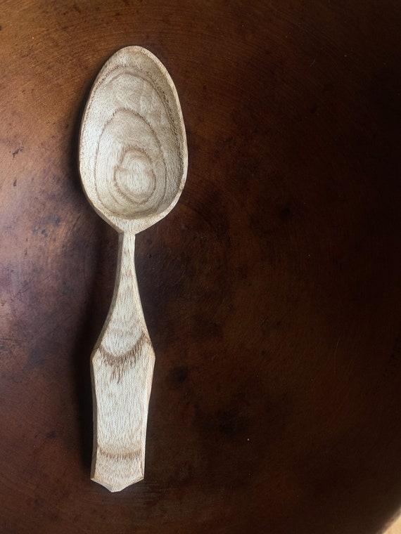 Hand Carved Wooden Spoon Eating Spoon Wooden Eating Spoon Great Gift