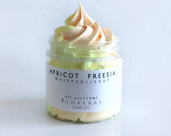 Apricot Freesia Whipped Soap, Fluffy Soap, Cream Soap
