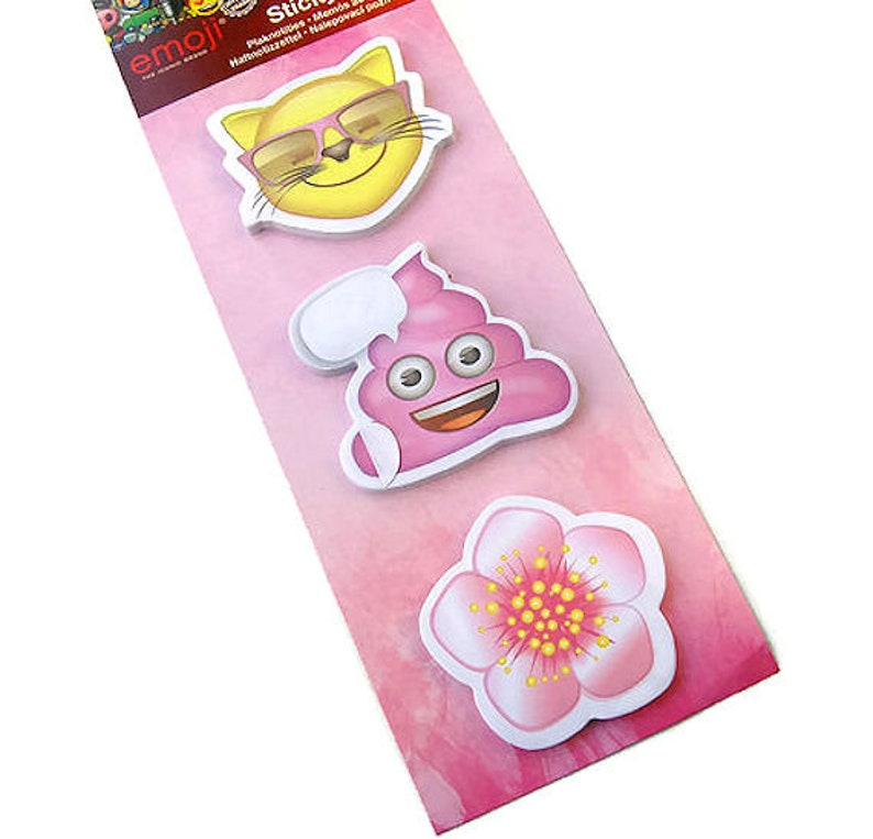 Emoji sticky note set, cat poop and flower sticky notes, page flags, page  markers, planner flags, planner accessories, planner supply