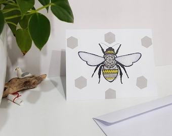Bee Greeting Card Blank