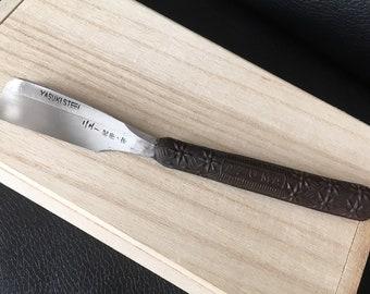 Vintage NOS japanese kamisori Yasuki steel