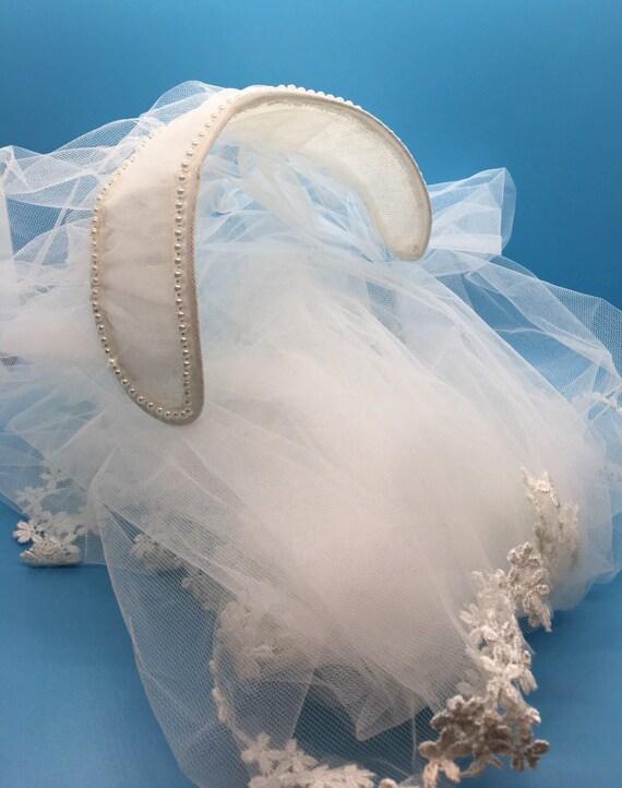 Bridal Veil Vintage Juliet Cap Veil - Gorgeous!