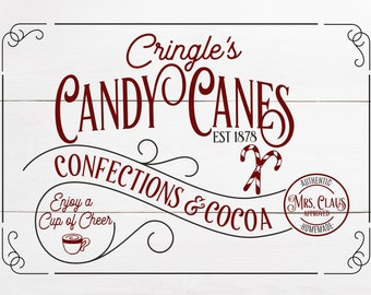 Cringle's Candy Canes SVG (2 Versions)