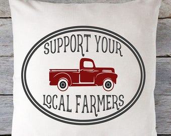 Support Your Local Farmers SVG