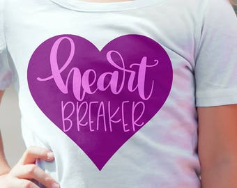 Heart Breaker - Hand Lettered SVG for cutting machines