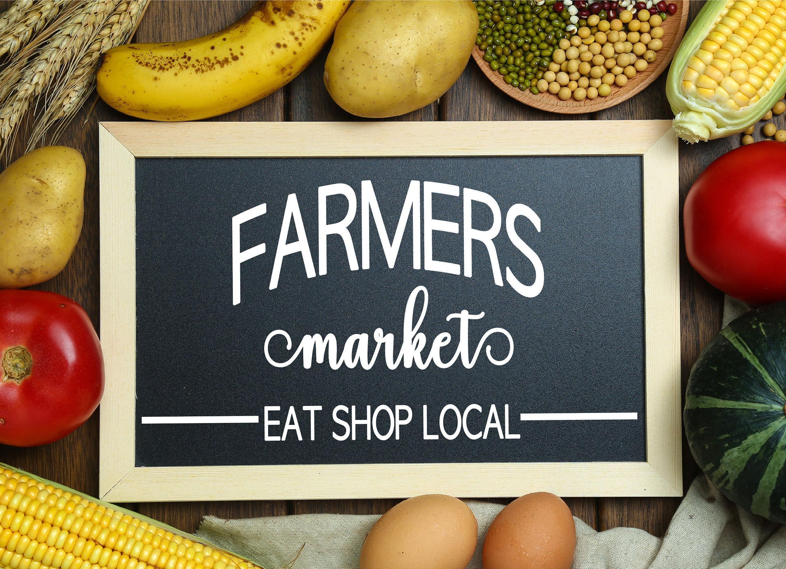 Farmers Market Sign Svg Etsy