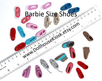 Made to Order - Pick Your Color - Barbie Size Shoes - 1 Pair