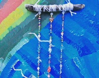 Beautiful Stone Shard Beaded Wind Chime Sun Catcher Dream Catcher