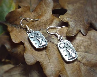 Moongazing Hare Earrings