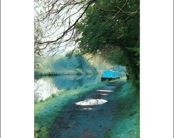 Greeting Card, greeting cards, greeting card pack, blank cards, stationery card, notecard, blank inside, A6, English Canal in Spring