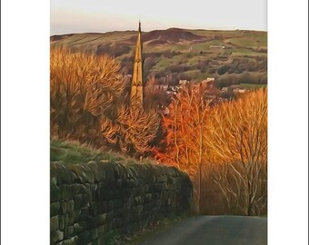 Greeting Card, greeting cards, greeting card pack, art card, blank cards, stationery card, notecard, blank inside, A6, UK autumn landscape