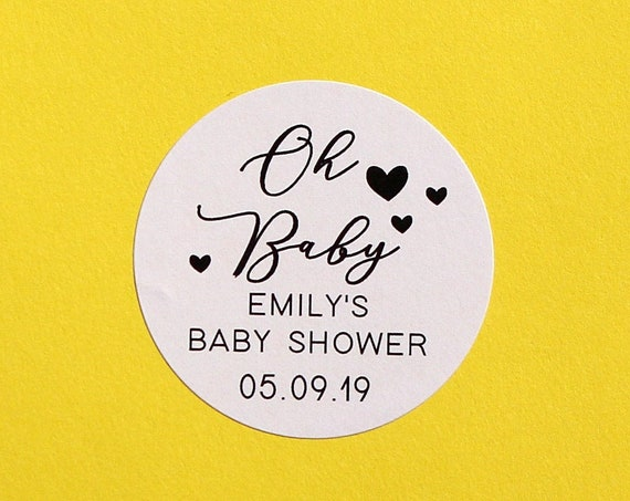 Baby Shower Favour Stickers, Ready to pop labels, custom baby shower, personalised baby shower stickers, baby girl announcement, baby boy