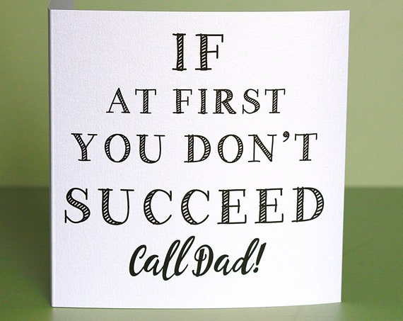 Funny Dad Birthday card, Thank you dad card