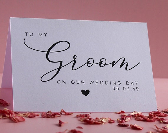 Wedding Day Card for Brides, Grooms, Bridesmaids and Best Man