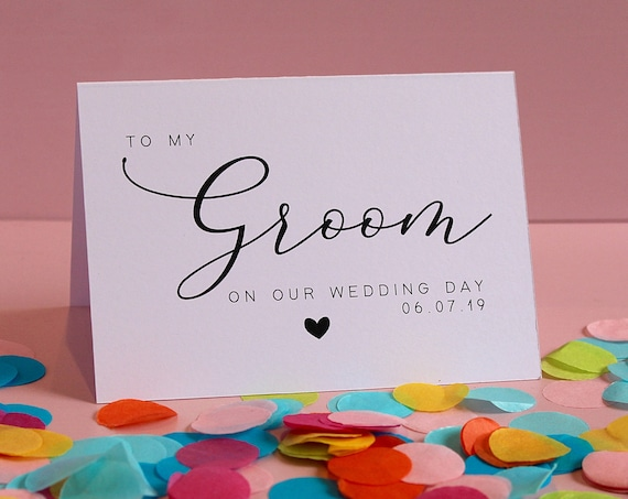 Wedding Day Thank you Cards Personalised Card for Brides, Grooms, Bridesmaids, Best Man