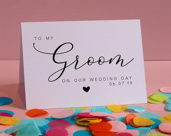 Wedding Day Thank you Cards, To my Groom card, to my Bride card, to my Bridesmaids, to my Best Man