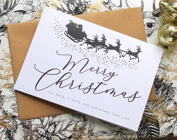 Pack of 6 Christmas cards,  Merry Christmas cards, Personalised card packs, custom xmas cards, christmas card list