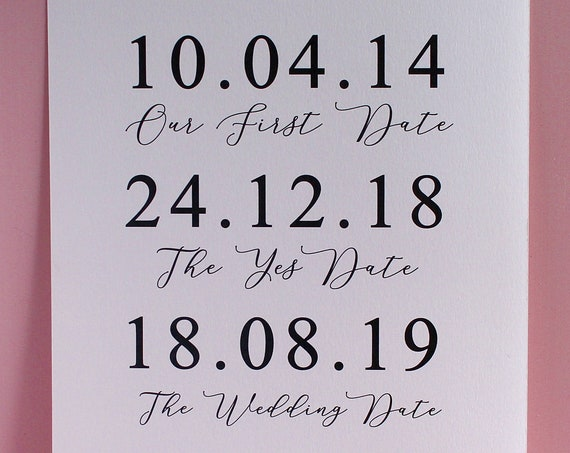 Our love story dates Print, Wedding Day Print, Anniversary Gift, Mr and Mrs Gift