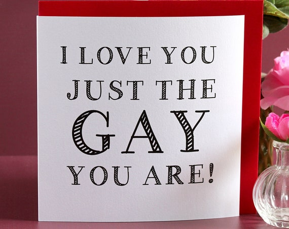 Gay anniversary card, gay valentines day card, funny anniversary card, LGBTQ valentines day card, gay boyfriend card, gay card for him