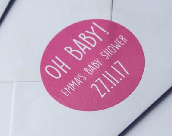 Baby Shower Stickers and Labels, Invitations, favours, favors and gifts