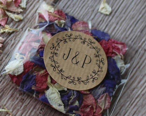 Wedding Stickers, Kraft Wedding Labels, Favour Stickers and Invitations