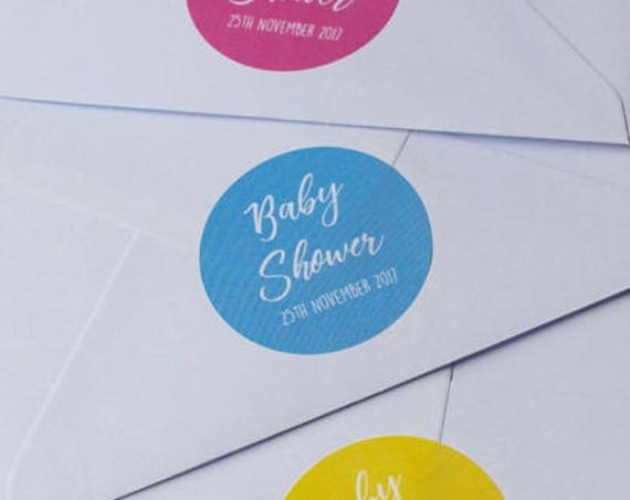 Personalised Baby Shower Stickers and Labels, Invitations, Custom favours, favors and gifts