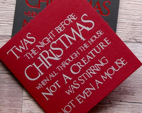 Foiled Christmas Cards for special friends and family
