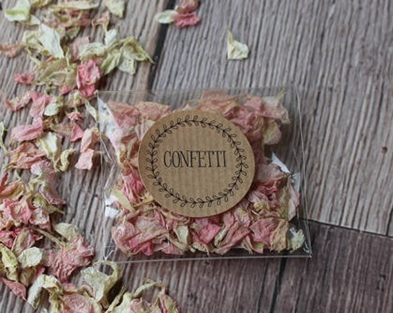 Confetti Stickers, wedding favour labels, Confetti Wedding Label, Wedding Confetti Stickers