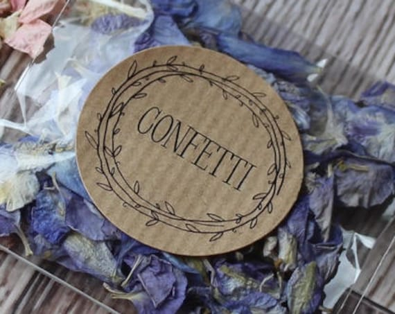 Confetti stickers, confetti labels, wedding stickers, wedding favour labels, confetti, wedding day, wedding decoration
