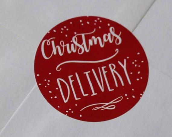 Christmas stickers, postage stickers, Christmas post, labels, stickers,christmas cards