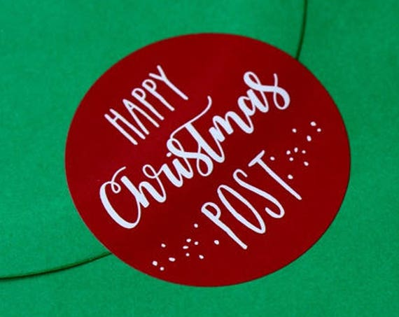Christmas Stickers, Festive post stickers, Christmas Card Labels, festive stickers. Christmas Post