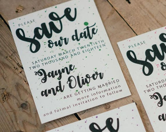 A6 Save The Date Cards and Envelopes