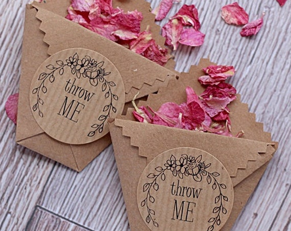 Wedding Stickers, Kraft Confetti Labels, Favour Stickers and Invitations