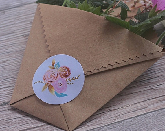 Wedding stickers, floral personalised wedding date labels, invitation and Save our date labels