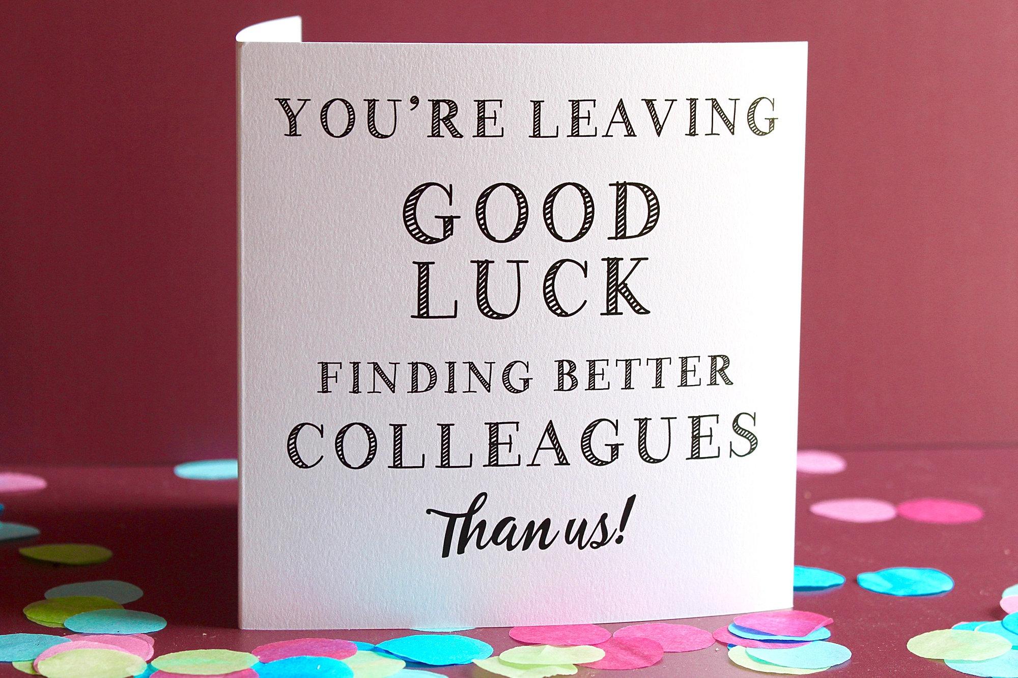 good luck card farewell card new job card sorry you're