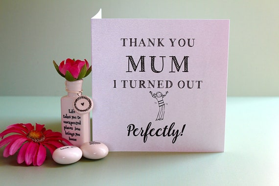 Thanks you mum, Funny Mother's day card, Funny card for mum, Card for mom, Mothers day card, Funny card, Card favourite child, Humour card