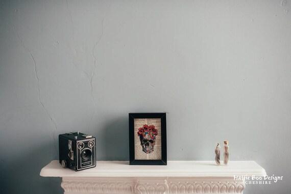A6 Framed Skull Print
