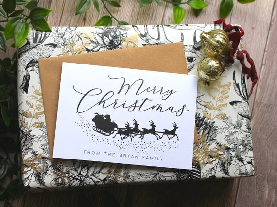 Pack of 6 Christmas cards,  Merry Christmas cards, Personalised card packs, custom xmas cards