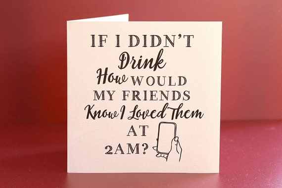 Best Friend birthday Card, humourous cards for friends, Social Media Card