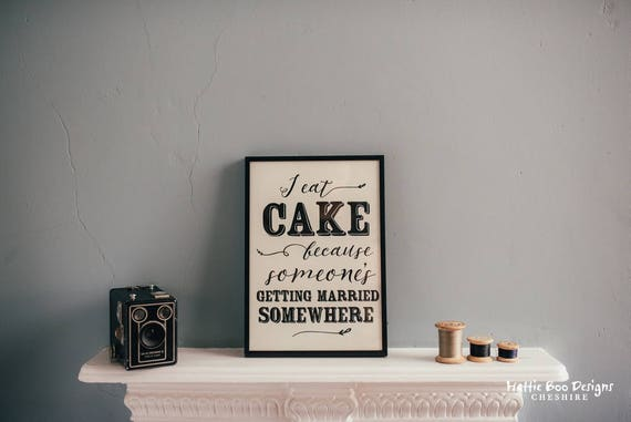 Cake Lovers A4 Print, Typography print for the home
