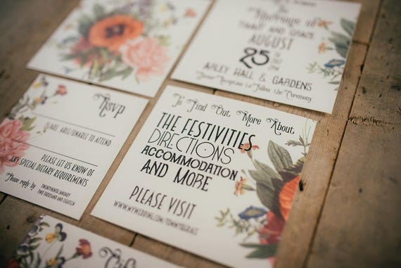 Vintage Print Floral Stationery Sample Pack