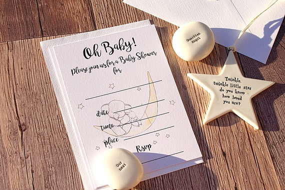 Baby shower invitations, Birth Announcement, New Baby Invites