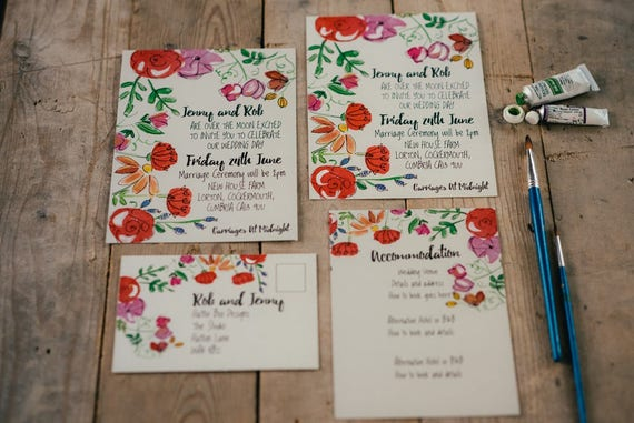 Funky Florals Stationery Sample Pack